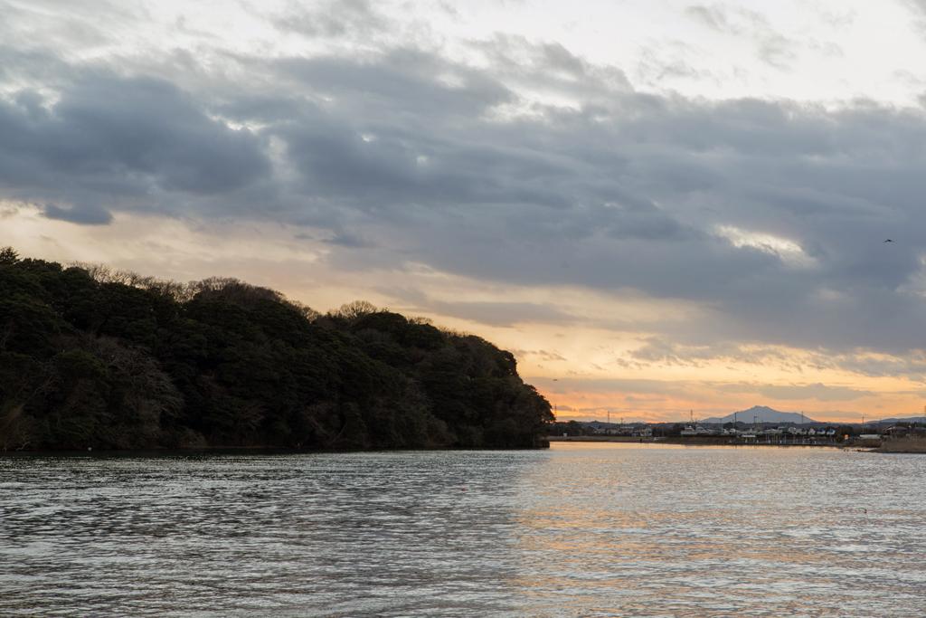 水戸八景「巌船の夕照」